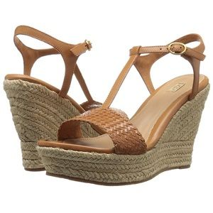UGG NEW, Fitchi II, leather wedge sandals